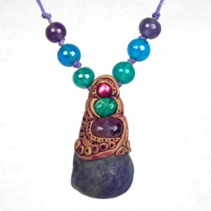 Medium Tanzanite with Amethyst, Aventurine and Abalone