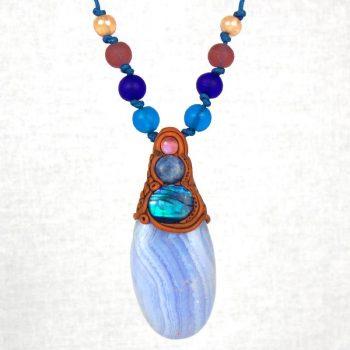 060 Medium Blue Lace Agate