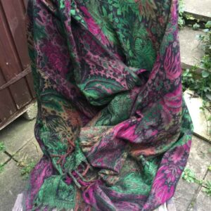 Paisley Leaf Soft Blanket/Shawl Colour 5