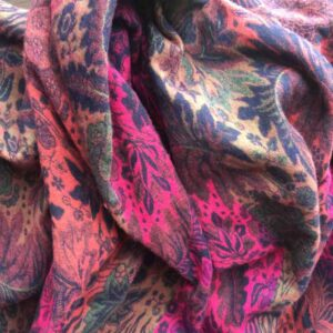 Paisley Leaf Soft Blanket or Shawl Colour 2