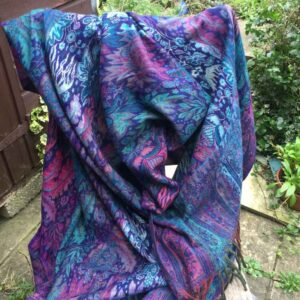 Paisley Leaf Soft Blanket or Shawl Colour 4
